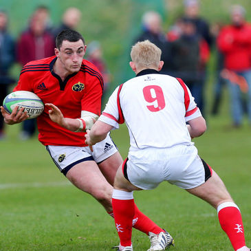 Try scorer Brian Downey in action for Munster