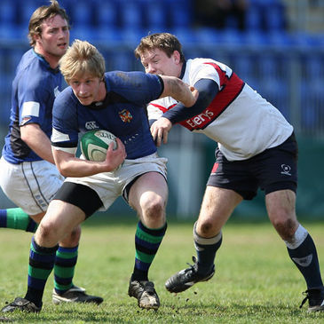 Brian Harwood in action for Queen's University