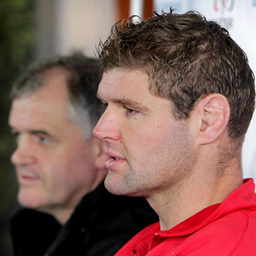 Ulster's Brian McLaughlin and Johann Muller