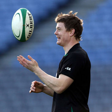 Ireland captain Brian O'Driscoll at Croke Park
