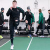 Brian O'Driscoll and the rest of the Ireland squad were back training after a well-earned rest day