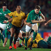 There were no line breaks and very few try-scoring chances during a defence-dominated game. Ireland captain Brian O'Driscoll is pictured trying to get away from Kurtley Beale