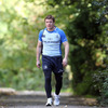 Brian O'Driscoll, the scorer of the only try in last Saturday's Aviva Stadium game, is pictured making his way to the training pitch