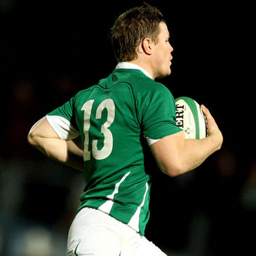 Brian O'Driscoll takes the ball on for Ireland