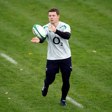 Brian O'Driscoll training ahead of the GUINNESS Series opener