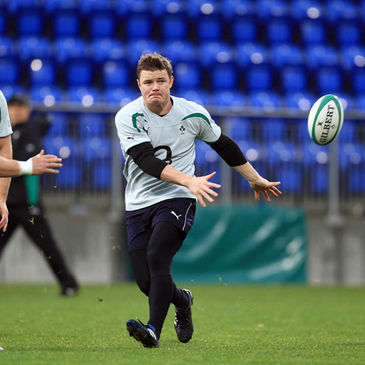 Brian O'Driscoll training at Donnybrook