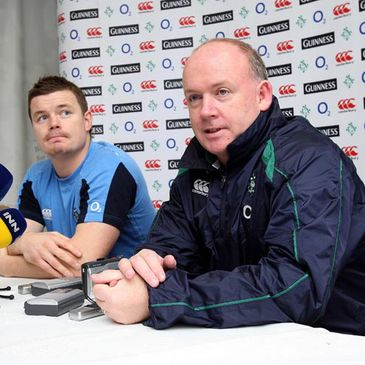 Brian O'Driscoll and Declan Kidney at Friday's press conference