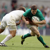 Brian O'Driscoll made a number of early carries as Ireland seized the initiative and took the game to France