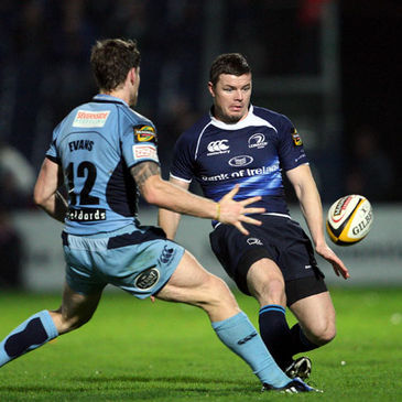 Leinster centre Brian O'Driscoll in action against Cardiff