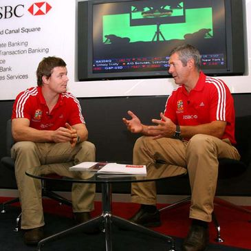 Brian O'Driscoll and Gavin Hastings at the HSBC event