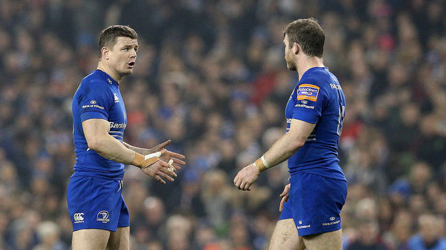 Leinster's Brian O'Driscoll and Gordon D'Arcy