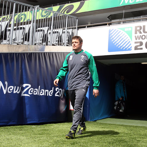 Photos of the Ireland players training at Eden Park in Auckland
