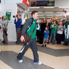 Ireland captain Brian O'Driscoll and the rest of the players got a great reception from the fans as they walked out into the arrivals hall