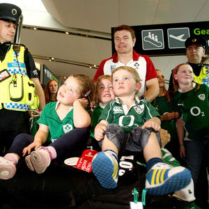 Ireland Squad's Arrival Home From Rugby World Cup, Dublin Airport, Tuesday, October 11, 2011