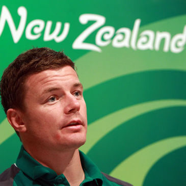 Brian O'Driscoll at today's team announcement press conference