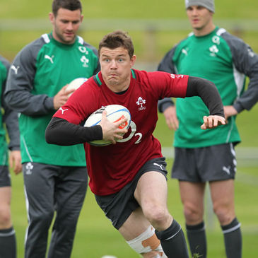 Brian O'Driscoll training in Auckland