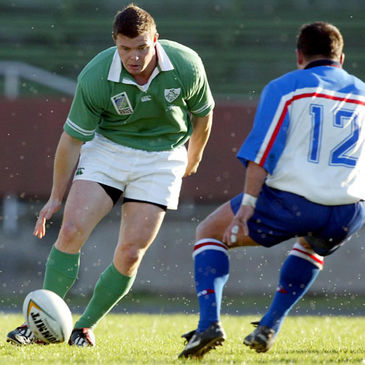 Brian O'Driscoll in action against Russia back in 2002