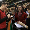 Brian O'Driscoll, Ireland's long-serving captain and record try scorer, was a popular figure for autograph hunters