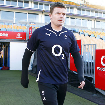 Brian O'Driscoll arriving for training in Auckland