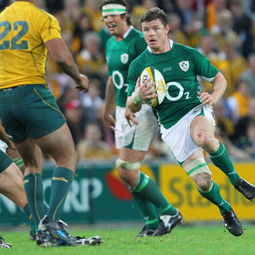Brian O'Driscoll in action against Australia last year