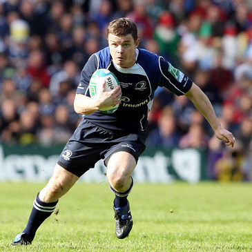 Brian O'Driscoll on the attack for Leinster