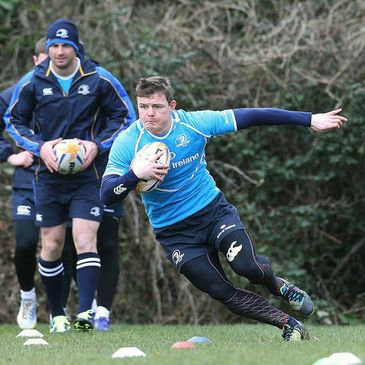 Brian O'Driscoll training at UCD