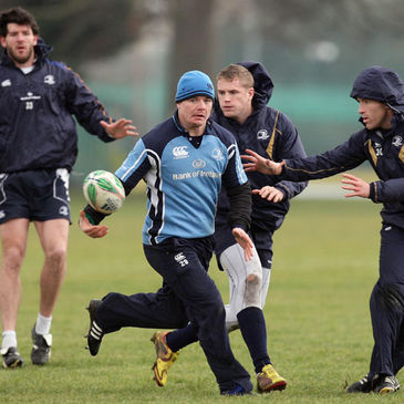 Brian O'Driscoll and company training at Belfield