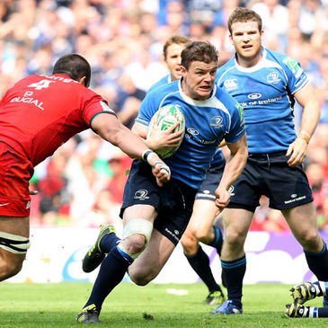 Brian O'Driscoll in action for Leinster