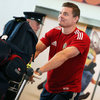 Brian O'Driscoll was back on Irish soil for the first time since ending his 12-year wait for a Lions series victory
