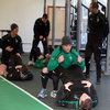 Jason Cowman said it was important for the players to 'activate and stimulate the hip area and the rear chain' to make sure they are ready for the coaches out on the training pitch