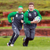 Brian O'Driscoll, pictured training with Rob Kearney, says everything has gone to plan so far this week and 'hopefully we can continue to build on this leading into Saturday's game'