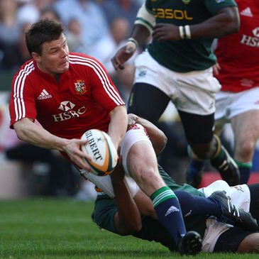 Brian O'Driscoll in action against South Africa