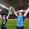 It is celebration time for two of Leinster's most experienced players - Brian O'Driscoll, who made his European debut in 1999, and Shane Horgan, who got his first taste of the tournament in 1998