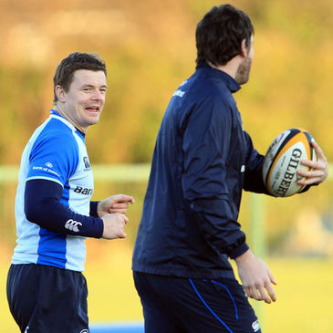 Leinster's Brian O'Driscoll and Shane Horgan