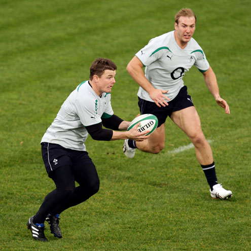 Photos of the Ireland players training at Donnybrook Stadium on Monday
