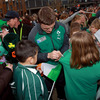 Brian O'Driscoll said the squad was 'blown away' by the warm reception they received from the schoolkids and local residents of Queenstown
