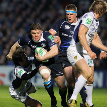 Leinster's Brian O'Driscoll makes a break against Clermont Auvergne