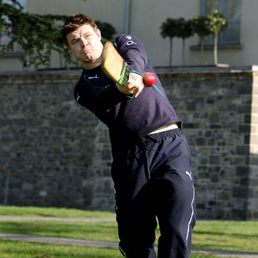 Ireland captain Brian O'Driscoll got in some batting practice at Carton House