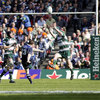 Leinster made the early running and a pinpoint drop goal from Brian O'Driscoll saw them take the lead