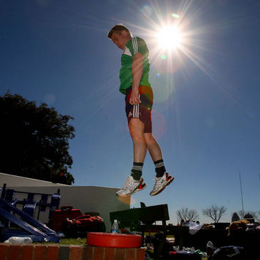 Brian O'Driscoll training with the Lions in Johannesburg