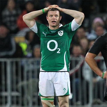 Brian O'Driscoll is pictured after the final whistle at Yarrow Stadium