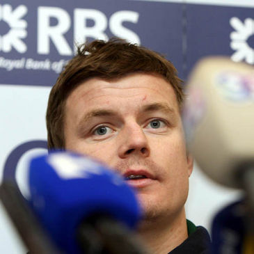 Brian O'Driscoll at Friday's press conference