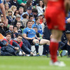 An infringement by Brian O'Driscoll close to his try-line saw him dispatched to the sin-bin by referee Dave Pearson