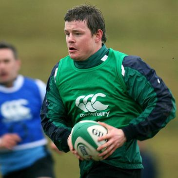 Brian O'Driscoll in action at training
