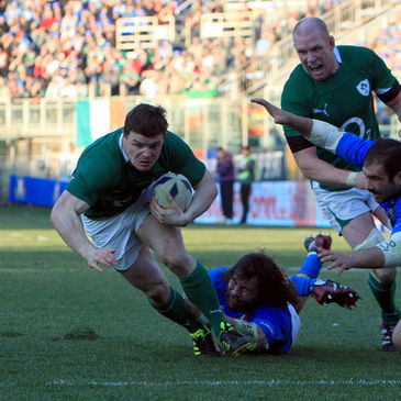 Brian O'Driscoll scored Ireland's only try against Italy
