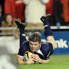 Brian O'Driscoll's try was the first ever Magners League try at the redeveloped Lansdowne Road ground