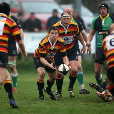 Scrum half Brian O'Riordan in action for Lansdowne
