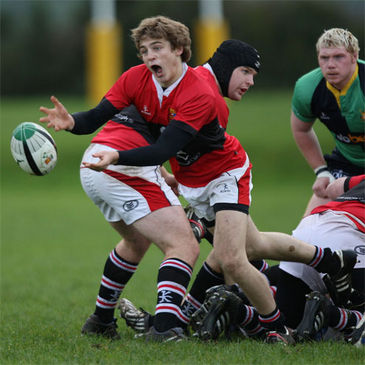 Scrum half Brian Slater in action for UCC