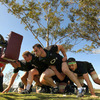 The Ireland forwards, led by front rowers Tony Buckley, Sean Cronin and Cian Healy, put in some time with the scrummaging machine in Brisbane