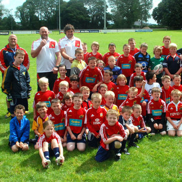 John Hayes and Tony Buckley with the Summer Camp participants